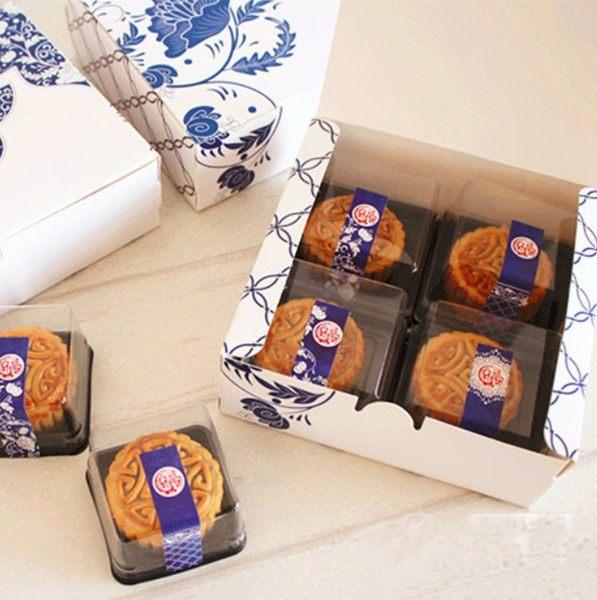 月餅包裝盒   青花瓷  *5個   14*14CM   想購了超級小物