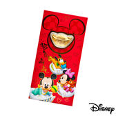 Disney迪士尼系列金飾-黃金元寶紅包袋-歡樂夢境款