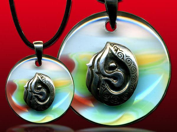 鹿港窯~開運古法水晶琉璃銀飾項鍊~因緣 附精美包裝◆免運費送到家