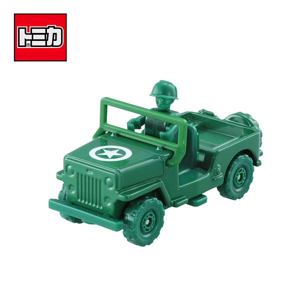【日本正版】TOMICA 騎乘系列 TS-07 綠色小士兵 x 軍事車 玩具總動員4 玩具車 多美小汽車 - 134138