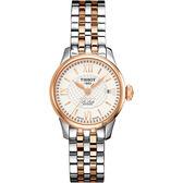 TISSOT天梭 Le Locle 力洛克羅馬機械女錶-銀x雙色/26mm T41218333