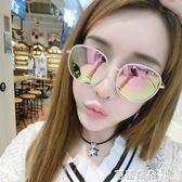 女士太陽眼鏡 韓國2018新款墨鏡潮女個性優雅圓臉復古太陽鏡圓形女士 芭蕾朵朵
