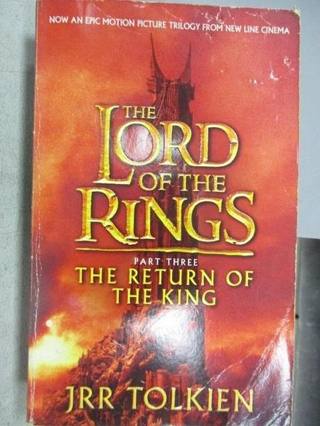 【書寶二手書T1/原文小說_MNW】The Lord of the Rings-The Return of The King