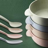 環保多功能餐具 湯碗+湯匙組/兒童飯碗湯匙兩件組【WS0530】icoca  09/22