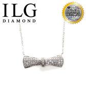【頂級美國ILG鑽飾】頂級八心八箭擬真鑽石項鍊-Nc090 - 完美情人結款 手工滿鑽密鑲