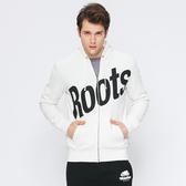 Roots - 男裝 - ROOTS 前胸斜體連帽外套 - 白色