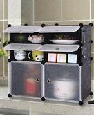 碗柜廚房簡易組裝家用多功能現代簡約經濟型收納餐邊櫥柜儲物柜子