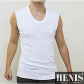 HENIS 時尚簡約型男純棉寬肩背心~6件組