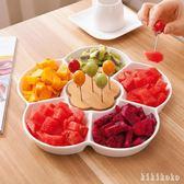 創意陶瓷水果盤家用簡約果盤日式零食盤分格沙拉盤客廳點心干果盤 DR2675【KIKIKOKO】