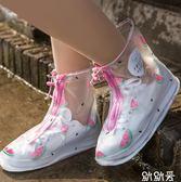防雨鞋套正韓 可愛女士加厚底防滑耐磨雨天鞋防水鞋套腳套雨靴成人下雨【快速出貨八折搶購】