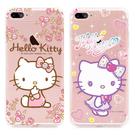 88柑仔店~Hello Kitty聯名施華洛 奢華水鑽手機殼iPhone7蘋果4.7吋透明軟殼