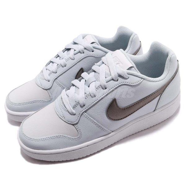 Nike 休閒鞋 Wmns Ebernon Low 藍 灰 平底鞋 基本款 女鞋 運動鞋【PUMP306】 AQ1779-003
