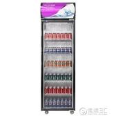 飲料展示櫃啤酒冷藏冰櫃商用保鮮冷凍兩用大容量超市雙門冰箱主圖款 雙十一全館免運