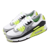Nike 休閒鞋 Wmns Air Max 90 OG Volt 灰 綠 螢光綠 女鞋 經典配色 運動鞋 【PUMP306】 CD0490-101