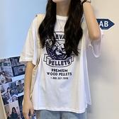 超火短袖t恤女ins潮2021寬鬆韓版學生bf原宿風顯瘦百搭印花上衣服『潮流世家』