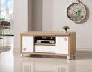 【森可家居】潔咪4尺推門電視櫃 7ZX366-5 長櫃 木紋質感 無印風 北歐風
