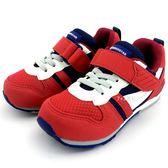 《7+1童鞋》日本月星 MOONSTAR 魔鬼氈  透氣  機能  運動鞋  C438  紅色