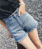 【首爾】牛仔短褲女夏新款顯瘦高腰正韓寬鬆a字港味復古chic潮熱褲