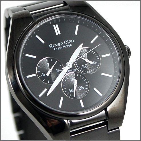 【萬年鐘錶】 Roven Dino 羅梵迪諾 楊丞琳代言 全黑白字時尚錶 RD9803MB