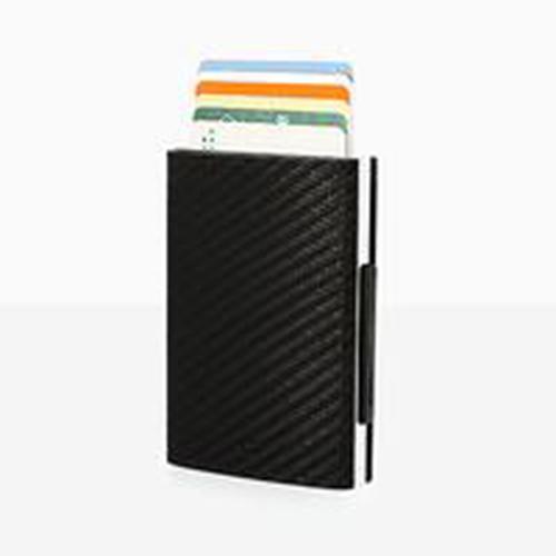 【預購】Cascade Wallet RFID 安全防盜真皮三摺錢包-碳纖維紋