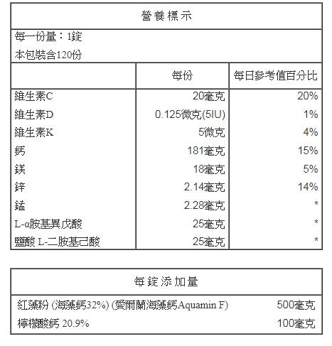 巧維他 天然海藻鈣 120粒【德芳保健藥妝】