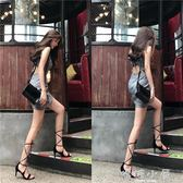 2018夏裝新款女修身顯瘦無袖短款露背性感 洋裝包臀格子裙子夏  嬌糖小屋