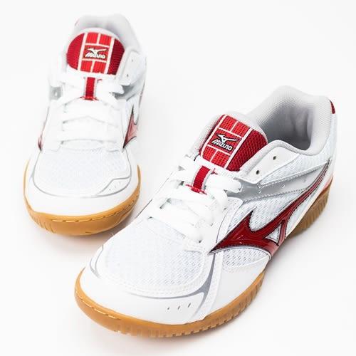 MIZUNO 男女 CROMATCH PLIO RX3 美津濃 桌球鞋 白/紅 - 81GA163062