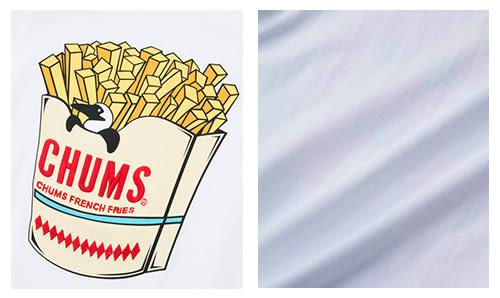 CHUMS 日本 男 Booby薯條短袖圓領T恤 白 CH011213W001