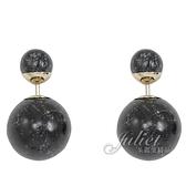茱麗葉精品【全新現貨】Christian Dior TRIBALES系列大理石紋造型耳環.黑/金