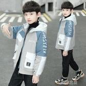 男童外套秋冬款年中大童風衣加厚英倫風兒童夾克冬裝洋氣快速出貨