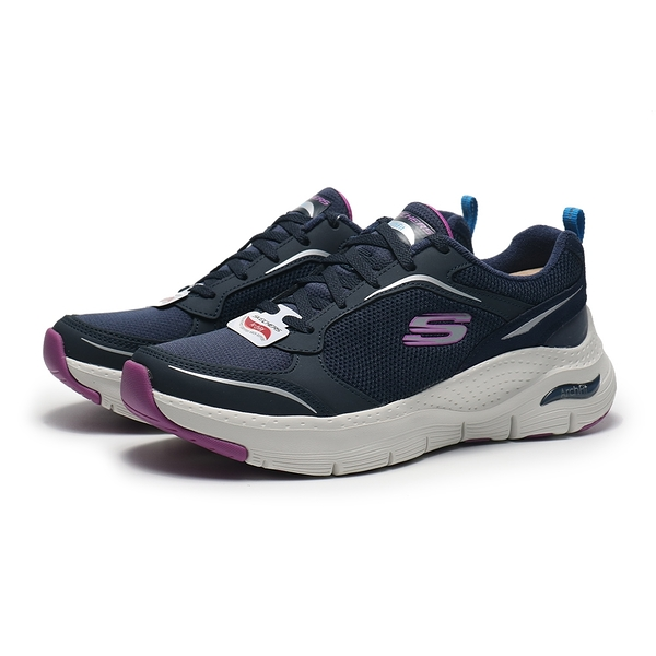 SKECHERS 休閒鞋 ARCH FIT GENTLE STRIDE 深藍 紫 健走鞋 女 (布魯克林) 149413NVPR