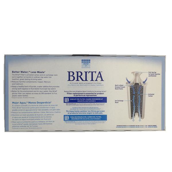 [+399 送濾水壺] Brita 濾水壺專用圓形濾心/濾芯 (5入) (和舊款相容,效率更好可過濾151公升)