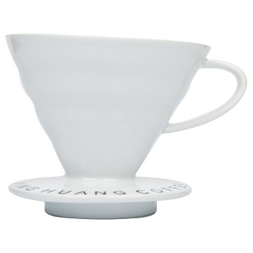 品皇咖啡 V02錐形陶濾杯-白