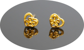 gold 黃金 耳環 金飾 保證卡 重量0.27錢 [ ge 065 ]