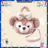 (現貨&樂園實拍)  東京迪士尼限定  達菲家族 雪莉玫  大臉 絨毛 背帶 2way 手提包 / 側肩包