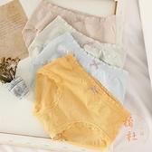 莫代爾內女棉襠透氣中高腰收腹少女日系高中學生【橘社小鎮】