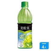美粒果白葡萄汁蘆薈粒450ML x4罐【愛買】