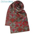 Vivienne Westwood滿版星球圖羊毛樣圍巾(茄紅色)910533-1