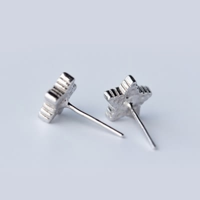 925純銀耳環(耳針式)-個性五角星生日情人節禮物女飾品73dr155[時尚巴黎]