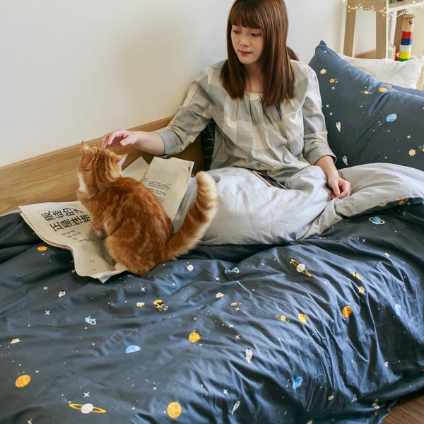 【預購】遨遊宇宙 S1單人床包二件組 100%精梳棉 台灣製 棉床本舖