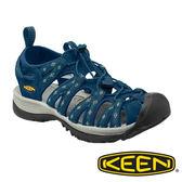 【KEEN 美國】Whisper 女 輕量護趾水陸兩用鞋『深藍/灰』1014206 健行|涼鞋|健走|海邊|沙灘鞋