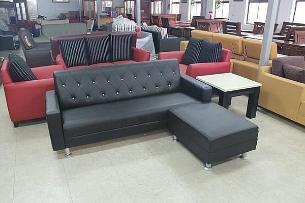 【石川家居】SA-35 巧鑚3人座+腳椅 L型沙發 (兩件) 可換色 台灣製造 台中以北搭配車趟免運 #101系