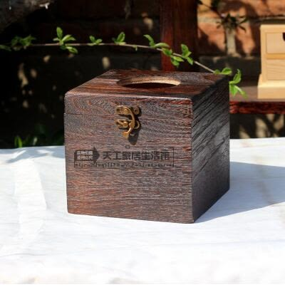 面紙盒-燒桐木紙巾盒創意中式實木手工復古車用車載抽紙盒面巾紙盒 大降價!免運8折起!