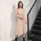 春季連身裙新款寬版長裙洋裝長洋裝法式少女復古裙三色可選