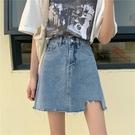 短裙 牛仔短裙女春夏2021新款ins設計感小眾包臀裙子高腰顯瘦a字半身裙
