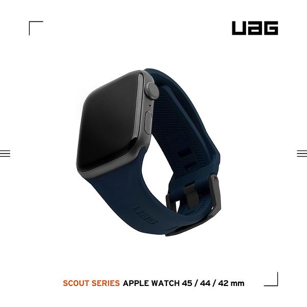 UAG Apple Watch 42/44/45mm 潮流矽膠錶帶-藍