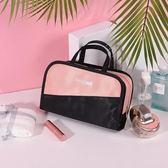 化妝包 網紅化妝包小號便攜韓版簡約大容量化妝盒少女心化妝品收納袋 3色