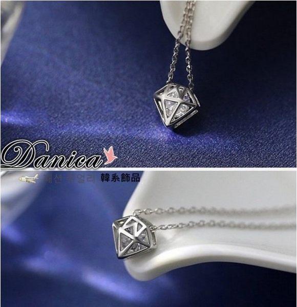 專櫃項鍊 現貨 專櫃CZ鑽 氣質名媛最愛閃亮 鑽石八心八箭水晶項鍊 S2389 批發價 Danica 韓系飾品