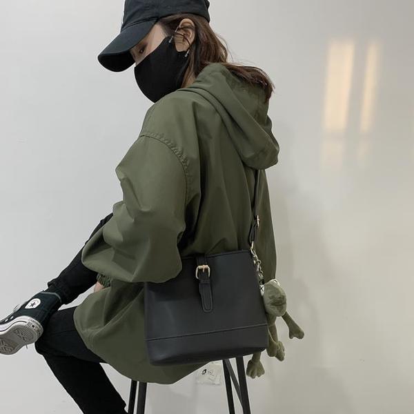 網紅包包女2020新款潮斜挎百搭ins學生韓版高級感洋氣質感水桶包 印象家品