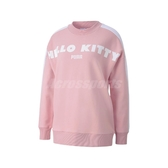 Puma x Hello Kitty Sweatshirt 長袖T恤 粉紅 白 女款 凱蒂貓 聯名 大學T 【PUMP306】 59713914